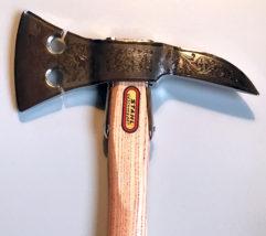 Handzierbeil Typ H, damasziert und vernickelt